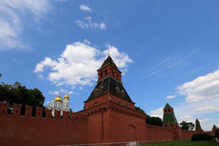 View of Moscow Kremlin on a sunny day, Russia Royalty Free Stock Image