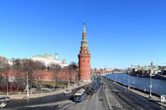 View of Moscow Kremlin on a sunny day, Russia Royalty Free Stock Photography