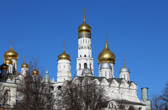 View of Moscow Kremlin on a sunny day, Russia Royalty Free Stock Images