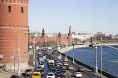 View of Moscow Kremlin on a sunny day, Russia Royalty Free Stock Photo