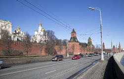 View of Moscow Kremlin on a sunny day, Russia-- Moscow architecture and landmark Stock Images
