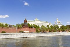 View of Moscow Kremlin Royalty Free Stock Image
