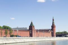 View of Moscow Kremlin Royalty Free Stock Photography