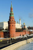 View on Moscow kremlin in winter Royalty Free Stock Images