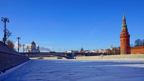 View of the Moscow Kremlin, winter morning Royalty Free Stock Photography