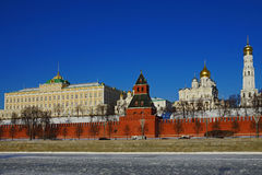 View of the Moscow Kremlin, winter morning Stock Photography