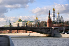View of Moscow Kremlin from Zamoskvorechye Royalty Free Stock Photos