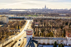 View of Moscow from the Novodevichy Convent Stock Photo