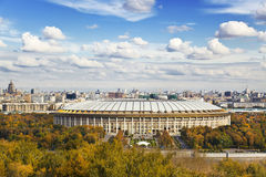 View of Moscow from the observation deck Royalty Free Stock Photos