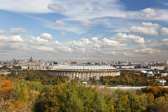 View of Moscow from the observation deck Stock Images