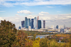 View of Moscow from the observation deck Stock Photo