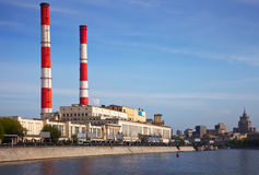 View of Moscow. Power station Stock Photo