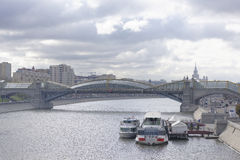 View of Moscow from the river Royalty Free Stock Photography
