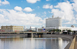 View from the Moscow River embankment Royalty Free Stock Image