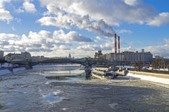 View of the Moscow River. Stock Images