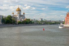View on Moscow river Stock Image