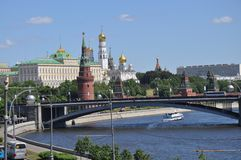 View of the Moscow river royalty free stock image
