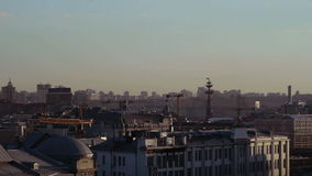 View of the Moscow roof stock footage