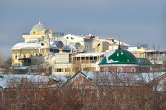View for  Moscow roofs in the winter Royalty Free Stock Images