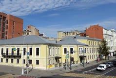 View of Moscow`s Big Putinkovsky Lane royalty free stock photos