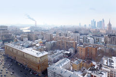 View of Moscow - Sadovoye Ring, Kievsky railway station Stock Image