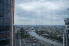 View from Moscow skyscrapers Royalty Free Stock Photos