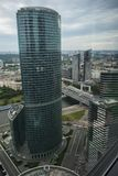View from Moscow skyscrapers Royalty Free Stock Image