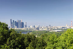 View of Moscow and skyscrapers Stock Photo
