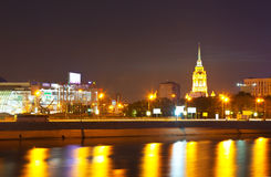 View of Moscow in summer  night Stock Photography