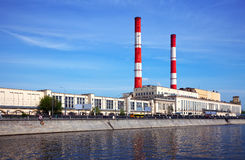 View of Moscow. Thermal power station Royalty Free Stock Photo