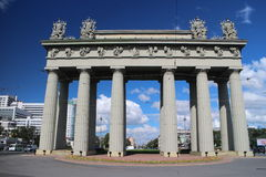View of the Moscow Triumphal Arch in St. Petersburg Stock Image