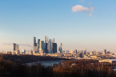 View of Moscow from a viewing platform on Sparrow Hills. Moscow. Russia Royalty Free Stock Image
