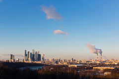 View of Moscow from a viewing platform on Sparrow Hills. Moscow. Russia Royalty Free Stock Photography