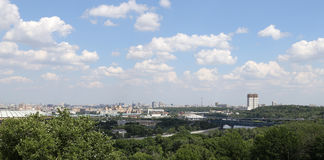 View of Moscow from Vorobyovy Hills Royalty Free Stock Photography