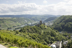 A view of Mosel river and Kobern-Gondorf in Germany Stock Images