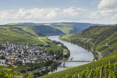 View on Mosel valley Royalty Free Stock Image