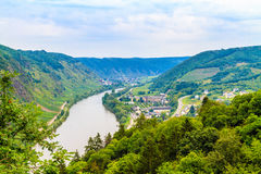 The view of the Mosel Valley stock image