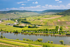 View on Moselle valley in Germany Stock Photo