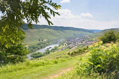 View on Moselle valley and Mosel river Stock Photography