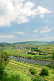 View of Moselle valley and Mosel river Royalty Free Stock Photography