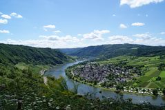 View of the Moselle valley / Mussel valley / Moezel dal Stock Images