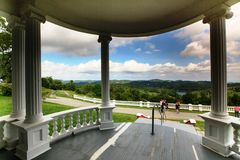 View From Moses Cone Veranda NC Stock Photos