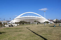 View of Moses Mabhida Stadium from Durban Promenade Royalty Free Stock Image
