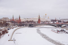 View of the Moskva River and Moscow Kremlin Stock Photography