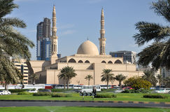 View of a mosque in arabic city Stock Photos
