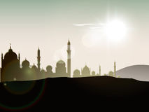 View of mosque on day background Royalty Free Stock Photography