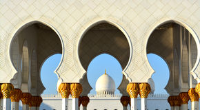 View of Mosque dome in Islamic Culture Stock Image