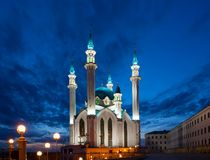 View of the mosque Kul Sharif in Kazan Royalty Free Stock Photos