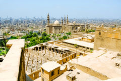 View of The Mosque-Madrassa of Sultan Hassan. Stock Image