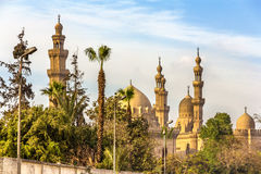 View of the Mosques of Sultan Hassan and Al-Rifai in Cairo - Egy Stock Photo